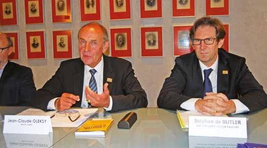 Jean-Claude Oleksy et Stéphan de Butler, respectivement président et vice-président du Medef Somme.