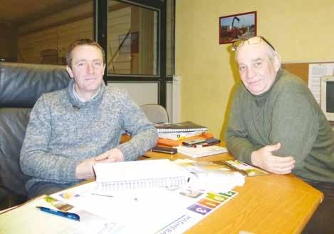 Franck Smal (à gauche) et Philippe Macaigne.