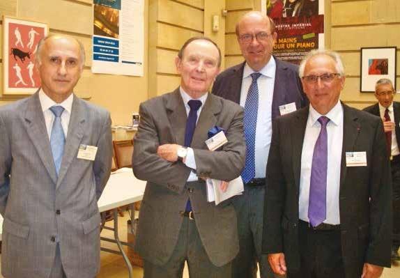 Patrick Rossi, Jean Roig, Yves Dauguet vice-président du tribunal de Compiègne et Richard Cassel, son président.