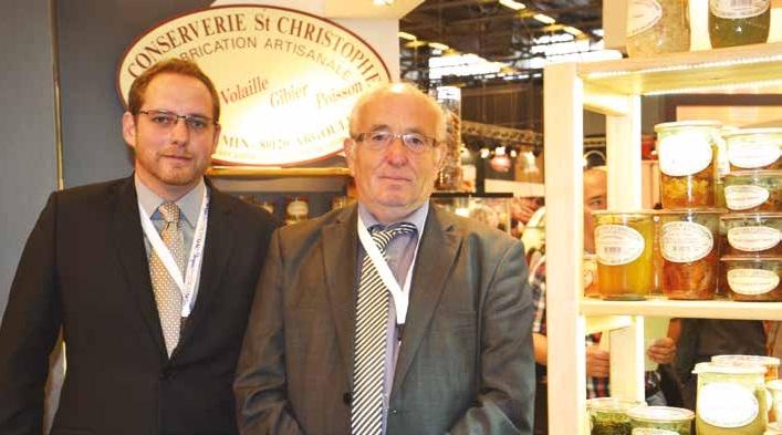 Simon et Éric Van Oost ont présenté leurs produits phares, comme le potjevleesch, et leur dernière production : le gâteau battu picard en conserve.