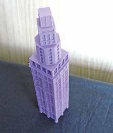 La tour Perret, symbole choisi pour illustrer la deuxième édition du MIPI, est ici réalisée par une imprimante 3D.