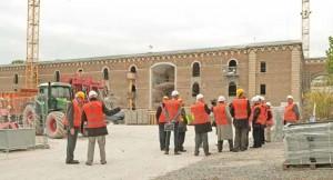 Après avoir disserté sur l'économie circulaire, élus et industriels ont visité le chantier amiénois de la Citadelle.