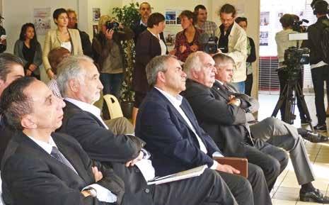 Les élus et partenaires de PlaNet Adam ont écouté avec attention les jeunes auto-entrepreneurs venus présenter leurs projets.