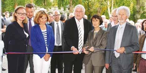 Pour le maire de Nogent-sur-Oise Jean-François Dardenne (au centre), ce pôle incarne « tout un écosystème de créativité ».