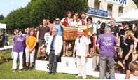 Les trois entreprises gagnantes (Actemium, Sanef, et la polyclinique Saint-Côme) du trophée régate inter-entreprises 2014.