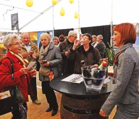 Des visiteurs nombreux pour aller à la rencontre des vignerons axonais.