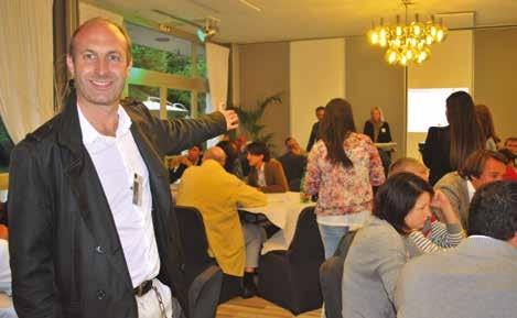 Jean-François Brément, président d'Alter Ego Amiens, lors de la soirée business