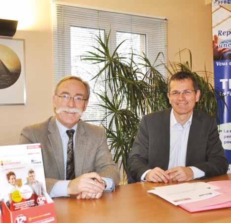 François Delhaye et Éric Vandeportal unis pour favoriser la reprise et transmission dans le bâtiment.