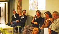 Les cinq créateurs, de gauche à droite : Adrien Poiret, Jean-Baptiste Héren, Lise Bienaimé, Élisabeth Bergez et Dominique Pillon.