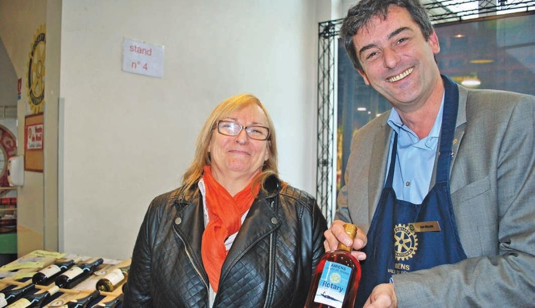 Nathalie Labat et Ivan Bellais, présidents de deux clubs Rotary d'Amiens.