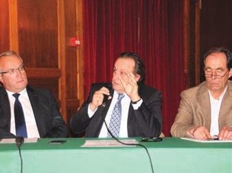 Le SRCE suscite des inquiétudes, et pour la CCI de l'Oise, il n'est pas adapté à la Picardie. (Philippe Enjolras, président de la CCIO, avec à g. Patrick Durussel, de la Chambre de métiers et de l'artisanat de Picardie et Bruno Haas, de la chambre d'agriculture de Picardie).