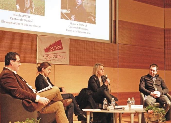 François Magnier, président de la FNSEA de la Somme a animé le débat entre Céline Imart, Barbara Pompili et Olivier Thibaut.