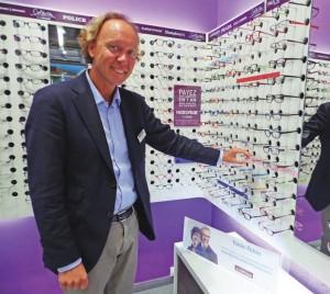Antoine Carette dirige trois magasins d'optique sous l'enseigne Alain Afflelou à Saint-Quentin.