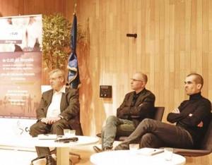 Bernard Devert, Rachid Cherfaoui et Nicolas Chochoy ont fait part de leurs expériences et de leurs regards sur l'ESS.