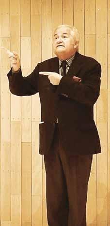 Jacques Mailhot, chansonnier et directeur du théâtre des 2 ânes a apporté une touche d'humour à la soirée.