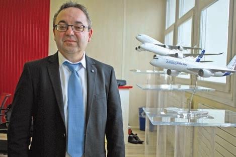 Thierry Rouault, directeur du site Stélia Aérospace de Méaulte.