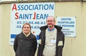 Emmanuelle Toulleron et Angelo Fiore à l'entrée de Saint-Jean.