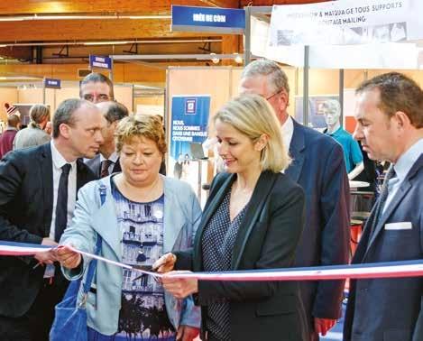 Nathalie Lavallard (à g.), adjointe au maire d'Amiens, et Barbara Pompili, députée de la Somme, ont lancé la seconde édition du salon CGPME.