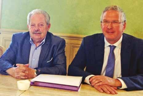 Patrick Desseaux (à g.) et Olivier Jardé cherchent des partenaires innovants dans les secteurs de la santé, du numérique et de l'énergie.