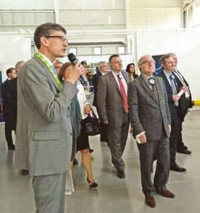 Claude Gewerc a inauguré ce bâtiment qui a demandé un investissement de 33 millions d'euros financés à 80% par la région et à 20% par l'Europe.