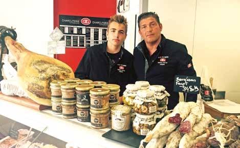 Stéphane et Louis Wiotte, deux générations de bouchers unies par la même passion.