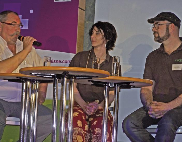 Nicolas Lanthiez, restaurateur, Elodie Courtin et David Greffiel, torréfacteurs, sont intervenus sur le volet : Jouer la carte de la différenciation.