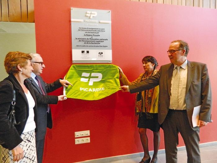 Claude Gewerc, Nicole Klein, Michel Brazier et Valérie Cabuil ont inauguré ce nouveau pôle Santé.