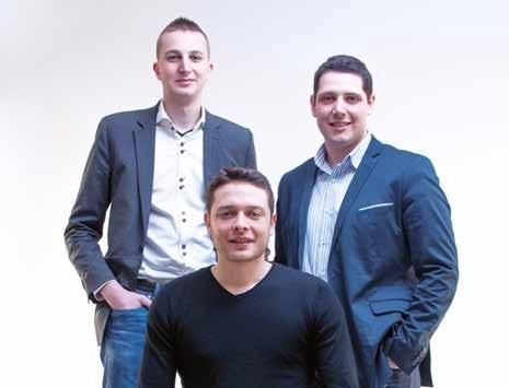 Les trois fondateurs de Pole Studio (de gauche à droite) Romain Petel, Camille Chowanek et Damien Peiffer.