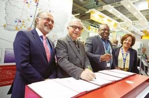 La convention signant la naissance du CFA Amesa de Nogent-sur-Oise a été actée au Bourget.