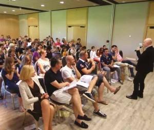 La conférence atelier animée par Lou Ken a fait participer les jeunes dirigeants, leurs conjoints ou conjointes ainsi que les enfants.