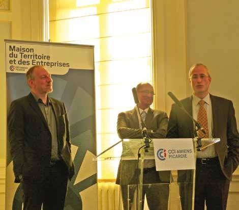 Pablo Santos Vega, Bertrand Coudert et Thibaut Lemoine ont présenté la société Elster.