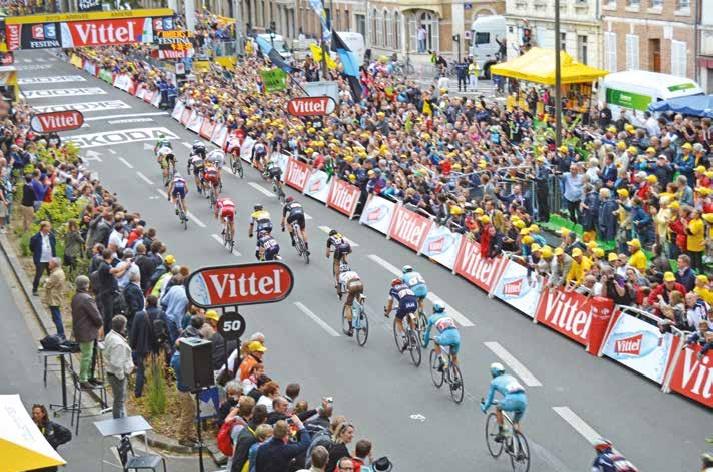 André Greipel a remporté la cinquième étape, suivi de Peter Sagan et de Mark Cavendish.