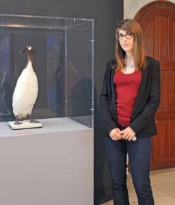 La conservatrice et le Grand pingouin.