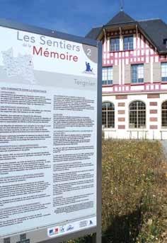 Les panneaux 2 et 3 sont implantés à la médiathèque de Tergnier, située près de la gare SNCF. Le panneau 2 porte témoignage de l'implication des cheminots dans la Résistance. Le panneau 3 retrace les bombardements des 10 et 14 mai 1940 et ceux du 20 mai 1940.