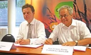 Étienne Crépon, président du CSTB et Jean-Jacques Blangy, président du CoDEM.