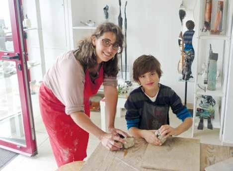 Sophie Goldaniga de Paula vient d'ouvrir son atelier de raku au 27, quai Blavet à Saint-Valéry-sur-Somme.