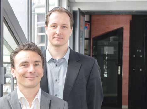 Sébastien Truttet (à g.) et Joël Carnat prévoient un chiffre d'affaires de 200 000 euros pour leur premier exercice.