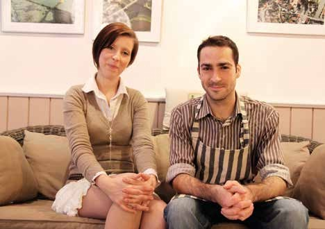 Alice Gombart et Dimtri du Comptoir Bleu, un Bistrot de Pays.