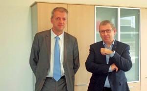 À droite, Jean-Marc Tomezak, directeur régional du RSI, et Christophe Dumoulin, attaché de direction.