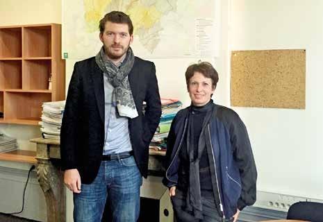 Benoît Durant, chargé de mission, et Éléonore Calandre, directrice, sont chargés des missions d'intervention économique et sociale à la région.