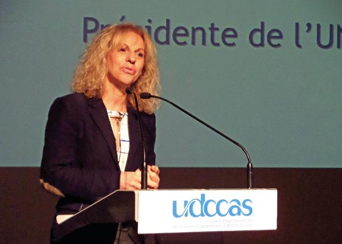 La présidente de l'Union nationale des CCAS a souhaité porter au niveau du national la réflexion engagée au cours de ce congrès de l'Aisne.