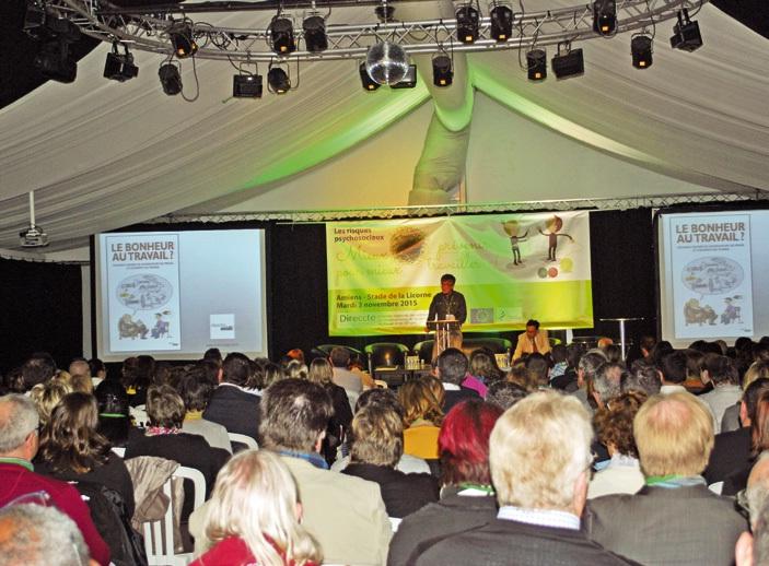 Une salle comble pour les Assises régionales de la santé au travail de Picardie.