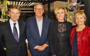 De nombreux élus ont répondu présent à l'invitation de Suzy Diruy (deuxième à g.) comme (de g. à d.) le député de la Somme Pascal Demarthe, la sénateur Christian Manable et la conseillère départementale Marion Lepresle.