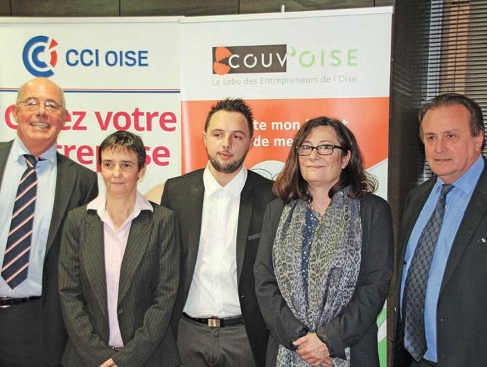 Philipe Enjolras (à dr.) avec Marie-Hélène Grignard, Yann Romby, Emmanuelle Pouvesle et Jean-François Marquestaut, président de l'ACEO.