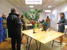 La présentation de la CoBoutique et de Tellement prêt a réuni une vingtaine de participants dans les locaux de la Machinerie.