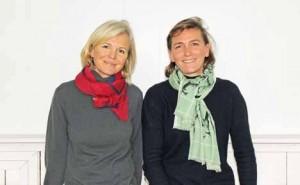 Martine Byvoet et Eulalie Nicolaï admirent le savoir-faire de l'Inde.