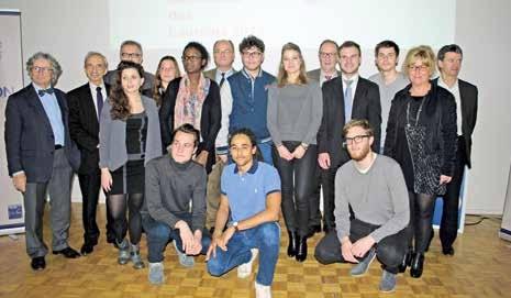 L'ensemble des lauréats du premier appel à projet de la fondation de l'UPJV.