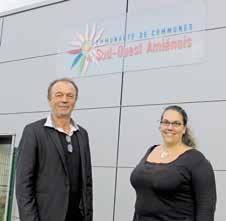 Alain Desfosses, président de la communauté de communes, et Emmanuelle Bissieux, directrice générale adjointe.