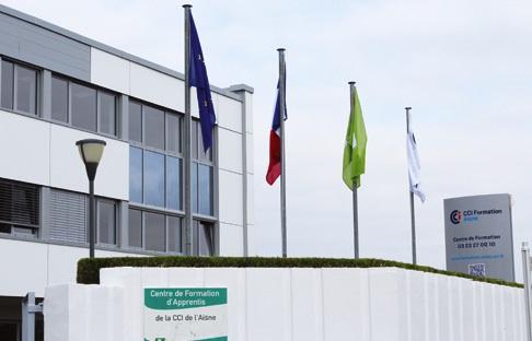 L'immeuble du CFA de l'Aisne à Laon est de moins en moins peuplé.