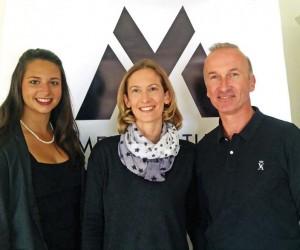 Aurélie Degallaix, au centre, avec ses collaborateurs a fondé Men Attitude, un site de lingerie masculine.